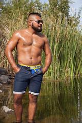 IMG_0251 (DesertHeatImages) Tags: gay hairy lake male cub model furry sunny canyon rico mexican lgbt latino hispanic