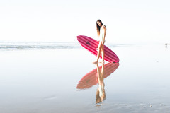 Mere Made Surfboards (Laurent_Imagery) Tags: ocean california ca pink light sea portrait beach wet water weather fashion sport lady female french 50mm prime coast sand nikon surf pacific sandiego action surfer board horizon longhair culture lifestyle wave lajolla surfing pacificocean coastal surfboard blacks coastline leash westcoast swell fins wetsuit lightroom surfline blacksbeach lightpink surfergirl darkpink shaper oceanpacific lajollashore valerieduprat meremadesurfboards
