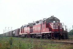 CB&Q 927 and 971 in Eola, IL on August 27, 1969 (railfan 44) Tags: chicago burlington quincy