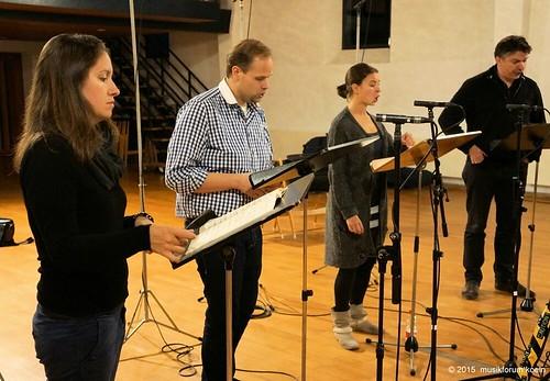 Enregistrement de cantates de Bach sous la direction de Christoph Spering avec Thomas Bauer, Marie-Sophie Pollak et Benjamin Bruns