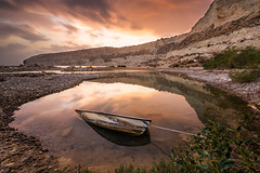 that sinking feeling as the sun sets (carltaylor) Tags: ocean longexposure sunset sea wild beach water canon landscape boat mediterranean natural wildlife cyprus sunk nocrop sinking limassol lemesos episkopi leefilters canon6d leebigstopper
