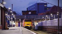 91112 Doncaster 27/11/2015 (Flash_3939) Tags: uk november light red station electric night train dark bay cab platform first rail railway loco virgin end locomotive blunt slab doncaster no2 virgintrains eastcoastmainline 2015 ecml class91 91112