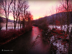 morning light (skistar64) Tags: christmas morning winter sunrise weihnachten advent riverside krnten carinthia wintertime sonnenaufgang morgen gurk gurkfluss