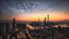 Dawn of the City II(The Bund, Shanghai, China) (Davis_Xin) Tags: city shanghai    lujiazui