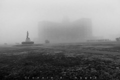 B&W (xoxo_2010) Tags: fog concerts blackwhitephotography oceanavenue asburyparknj asburyparkconventionhall