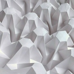 Hexagon Stalks - paper scored then folded