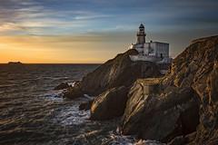 Baily Lighthouse, Howth, Dublin (Wojtek Piatek) Tags: sunrise sun dublin irish ferry ireland lighthouse rock cliff waves sea seascape ocean golden hours sony alpha a99