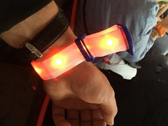 Wristband with lights.