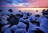 The Silence of a Cold Evening (tinamar789) Tags: winter snow ice sea seashore seascape sunset silence cold evening lauttasaari helsinki finland