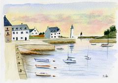 port breton (ybipbip) Tags: aquarell aquarela acquerello acuarela akvarel paint painting pintura peinture paysage landscape watercolor watercolour sea seascape mer mare