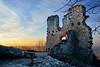 first sunset of the year (jujemisa) Tags: sunset drachenfels siebengebirge bonn königswinter 2017 new years snow ruins castle nikon d 5200 d5200 winter