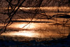 Icy Sunset Reflections (CdnAvSpotter) Tags: sunset petrie island ottawa river canon canada ontraio
