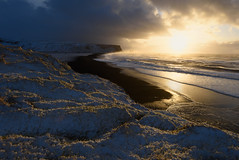 The land of ice and fire (George Pancescu) Tags: nikon d810 1635mm reynisfjara vik iceland beach blacksand ocean arcticocean sea water sunrise light blue nature outdoor landscape scenery dyrhólaey