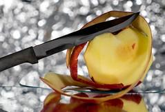 Apple-eling - Explored (Beegmnphoto) Tags: apple knife peel bokeh itsapeelingtome macromondays sonya7ii sonyzeiss2470mmf4za variotessar24704za