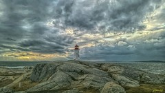 More Light at the Cove (photo fiddler) Tags: lighthouse peggyscove canada clouds january 2017 nokia 635