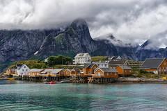 Sakrisøy cottage (marko.erman) Tags: reine lofoten norway landscape nordic sea moutains village beautiful pov trabel popular nature sony sakrisøy
