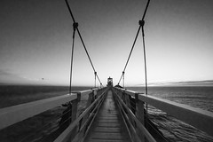 27 of 365 (explored) (westindiangal) Tags: blackandwhite monochrome lines bridge allrightsreserved ©jeanchristopher water ptbonita ca sf lighthouse