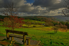 Snowdonia National Park(North Wales) (alex.vangroningen) Tags: snowdonia northwales nikon18200mm nikond7000 mountains bench trees house sky clouds green park