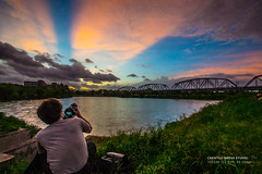 8/23  (chentgo) Tags: sunset  settingsun   rosyclouds   ironrailway