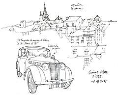 12 Saint-Côme d'Olt (gerard michel) Tags: auto france sketch village croquis aveyron midipyrénées ancêtres