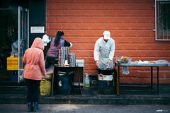The Breakfast Stall in Street. #Leica #Street (unTed) Tags: china street leica city people color work 50mm f14 beijing streetphotography documentary summilux asph leicam leicam240