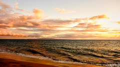 Maui Snapshot:  Glorious Maui Sunset (alliance1) Tags: ocean sunset color beach hawaii maui kihei 2015 16x9crop fujifilmxt1