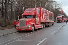 Coca Cola 20.12.1998  Weihnachtstour Berlin (rieblinga) Tags: berlin cola 1998 trucks finale coca weihnachtstour