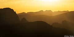 Rila Ridges (DobriMv) Tags: sunset mountain nature silhouette yellow landscape nationalpark outdoor hills rila peaks ridges  malyovitsa