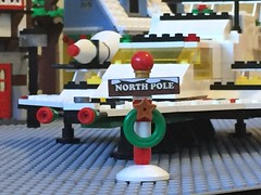 Signage (redreverend) Tags: christmas sign lego explorer north pole galaxy delivery vehicle 497