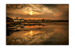 Subdued (RonnieLMills) Tags: donaghadee sunset clouds reflections seafront harbor harbour county down northern ireland nikon d90 tamron 1024 wide angle autofocus swingers