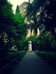 Lonsdale Square (TMimages PDX) Tags: park street city trees urban green grass square portland geotagged photography photo image streetphotography explore photograph parkbench fineartphotography flickrexplore explored lonsdalesquare iphoneography