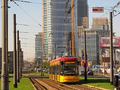 "PESA 128N ""Jazz-Duo"", #3603, Tramwaje Warszawskie (transport131) Tags: jazz tram warsaw warszawa tramwaj pesa ztm jazzduo 128n"