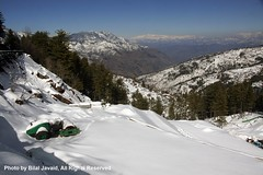 A Beauyiful View of Snow Fall in Murree- Photo by Bilal Javaid