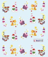 BLE112 (Jasmeet.k) Tags: santa christmas xmas tree art water nail slide musical decal transfer nailart bombastic