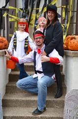 Pirate Family (Joe Shlabotnik) Tags: halloween costume lily pirates madeleine sarahp 2015 bliksem afsdxvrzoomnikkor18105mmf3556ged october2015