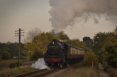 45337 - Mixed Traffic Gala, NVR - Lynch Bridge - 11.10.2015(2) (Tom Watson 70013) Tags: bridge black lynch ferry mixed traffic 5 five traction meadows railway steam valley gala nene castor nvr 45337