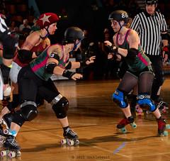 rebels_vs_panic_L3506403 1 (nocklebeast) Tags: ca usa santacruz rollerderby rollergirls zombies vampires skates organicpanic santacruzderbygirls redwoodrebels