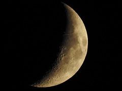 RSCN0064-2 (moon_hunter2014) Tags: sky moon luna crescent craters crater gibbous waxing waxinggibbous crescentmoon
