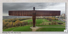 "Angel of the North ""Waiting for the Hurricane"" (setsuyostar) Tags: gateshead tyneside aerialphotography angelofthenorth antonygormley aeb kenhawley dynamicphotohdr november2015 hdrtriplet autumn2015 djiphantom3professional"