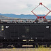 Butte, Anaconda and Pacific Railway # 47 electric boxcab locomotive (Anselmo Mine, Butte, Montana, USA)