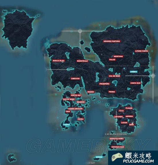 正當防衛3 地圖一覽 高清地圖分享