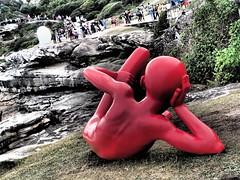 Sculpture by the Sea, Sydney, Australia (Pranav Bhatt) Tags: sea sky sculpture art water bondi artist outdoor crowd sculpturebythesea sculptures tamarama sculpturebysea bonditotamarama