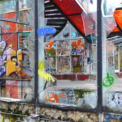P1050050 (roger.newbrook) Tags: winter cold berlin abandoned broken dark graffiti smash decay grunge debris brokenglass ruin crack swimmingpool dirt scum rubbish damage detritus smashed cracks damaged desolate destroyed cracked neukoelln desolation ruined verlassen destroy blub stillgelegt hallenbad ratshit abandnedswimmingpool