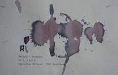 Arbeit 25 (Harald Reichmann) Tags: waldviertel kamptal schönberg weinbau zweigelt barrique 2013 wein rotwein alkohol visualisierung verteilung muster farbe signatur r papier kraft energie arbeit25 text information möglichkeit