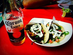 Corona and tacos (jade.yan) Tags: mexico tasty roadtrip wanderlust adventure corona tijuana ontheroad perfection fishtacos crossingtheborder traveltrigger