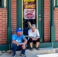 Hanging At Barb'z (J Wells S) Tags: ohio kentucky cincinnati streetphotography streetscene bbq newport urbanstreetscene barbequerestaurant barbzrestaurant