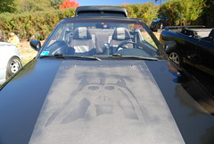 Darth Vader's Car (mister_hashtag) Tags: black car japan japanese star automobile day darth vehicle hood mister wars vader vii matte larz 2015 anderon hashtag misterhashtag