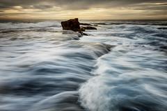 Sideflow (Crouchy69) Tags: ocean sea sky seascape motion beach water clouds sunrise landscape flow dawn coast rocks waves north sydney australia turimetta