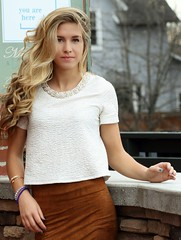 IMG_7641_Beautiful young girl....a snapshot portrait (donaldbrainard1) Tags: girl beautiful face wonderful hair real model pretty sam natural expression gorgeous skirt snap precious portraiture blonde stunning important seventeen