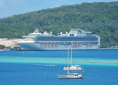 Ship and Yachts (mikecogh) Tags: tourism scale harbour cruiseship yachts comparison portvila multilevel